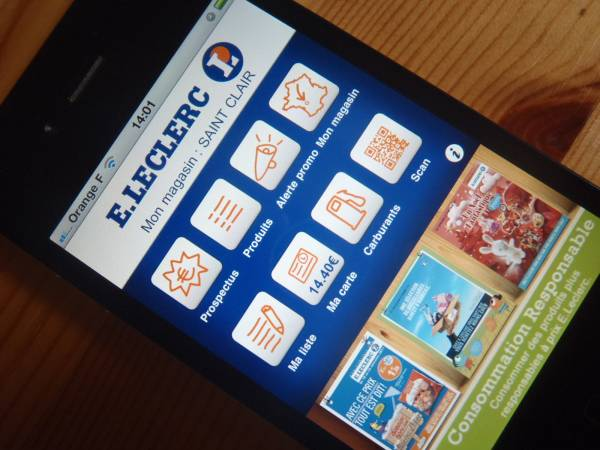 test application E.Leclerc sur Iphone